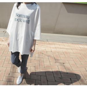 Tシャツ レディース 40代 50代 60代 ファッション 女性 上品  イエロー 黄色トップス ロゴ ゆったり 体形カバー 春 ミセス alice-style 19