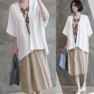カーディガン レディース 大人 40代 50代 60代 ファッション 女性 上品 ベージュ 紺 青ゆったり 体形カバー 春 ミセス|alice-style