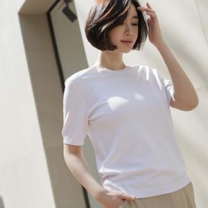 トップス レディース 40代 50代 60代 ファッション 女性 上品  黒 赤 ベージュ 紺 青Tシャツ 無地 半袖 春 ミセス|alice-style