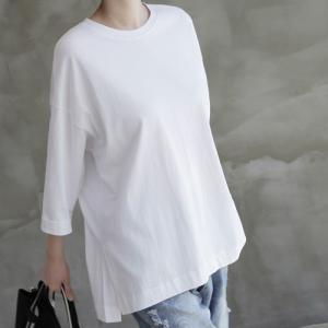 トップス レディース 40代 50代 60代 ファッション 女性 上品  ベージュ Tシャツ 長袖 無地 春夏 ミセス|alice-style
