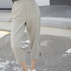 パンツ レディース 40代 50代 60代 ファッション 女性 上品  黒  ベージュ  紺 青 クロップド きれいめ 春夏 ミセス|alice-style