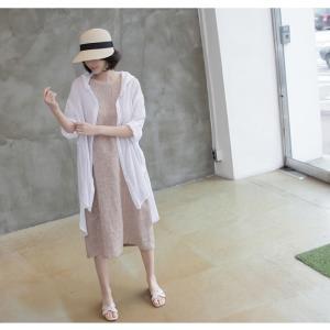 カーディガン レディース 大人 40代 50代 60代 ファッション 女性 上品 白ロング丈 ロングカーディガン 春 ミセス alice-style 13