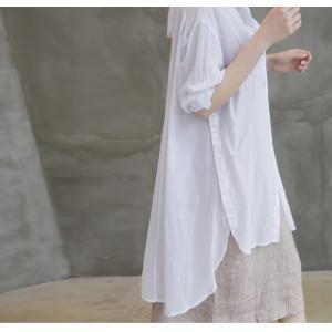カーディガン レディース 大人 40代 50代 60代 ファッション 女性 上品 白ロング丈 ロングカーディガン 春 ミセス alice-style 16