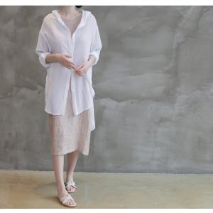 カーディガン レディース 大人 40代 50代 60代 ファッション 女性 上品 白ロング丈 ロングカーディガン 春 ミセス alice-style 03
