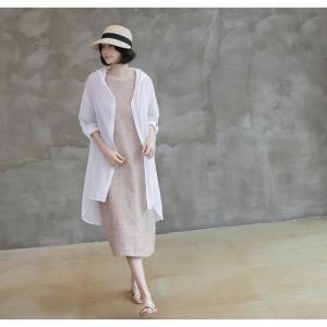 カーディガン レディース 大人 40代 50代 60代 ファッション 女性 上品 白ロング丈 ロングカーディガン 春 ミセス alice-style 07