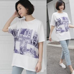 Tシャツ レディース 40代 50代 60代 ファッション 女性 上品 トップス プリント 春 ミセス|alice-style