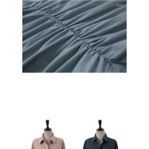 ワンピース レディース 40代 50代 60代 ファッション 女性 上品 シャツワンピース 無地 膝丈 きれいめ 春 ミセス|alice-style|19