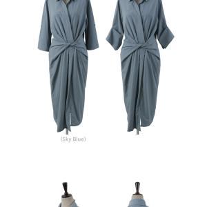 ワンピース レディース 40代 50代 60代 ファッション 女性 上品 シャツワンピース 無地 膝丈 きれいめ 春 ミセス|alice-style|21