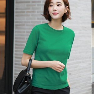 Tシャツ レディース 40代 50代 60代 ファッション 女性 上品  グレー トップス 半袖 無地 きれいめ 春夏 ミセス|alice-style