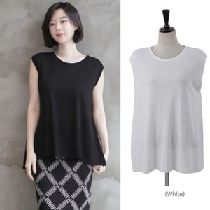 トップス レディース 40代 50代 60代 ファッション 女性 上品  黒 白 茶色Tシャツ ノースリーブ 無地 春 ミセス|alice-style