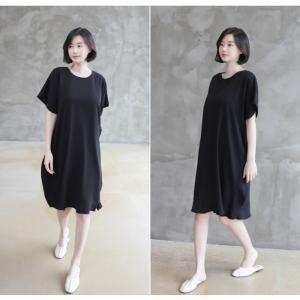 ワンピース レディース 40代 50代 60代 ファッション 女性 上品  黒 ベージュ膝丈 無地 半袖 きれいめ 通勤 春 ミセス|alice-style|12