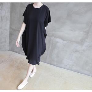 ワンピース レディース 40代 50代 60代 ファッション 女性 上品  黒 ベージュ膝丈 無地 半袖 きれいめ 通勤 春 ミセス|alice-style|13