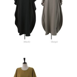 ワンピース レディース 40代 50代 60代 ファッション 女性 上品  黒 ベージュ膝丈 無地 半袖 きれいめ 通勤 春 ミセス|alice-style|15