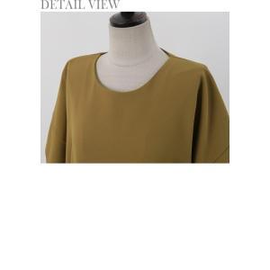 ワンピース レディース 40代 50代 60代 ファッション 女性 上品  黒 ベージュ膝丈 無地 半袖 きれいめ 通勤 春 ミセス|alice-style|18