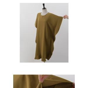 ワンピース レディース 40代 50代 60代 ファッション 女性 上品  黒 ベージュ膝丈 無地 半袖 きれいめ 通勤 春 ミセス|alice-style|19