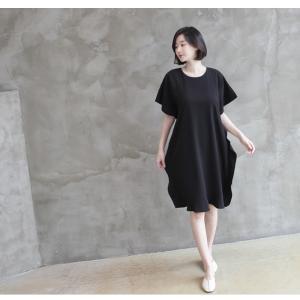 ワンピース レディース 40代 50代 60代 ファッション 女性 上品  黒 ベージュ膝丈 無地 半袖 きれいめ 通勤 春 ミセス|alice-style|08