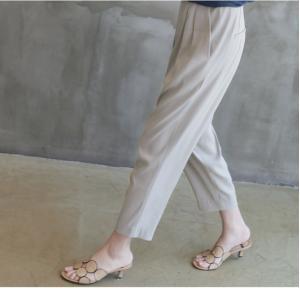 Tシャツ レディース 40代 50代 60代 ファッション 女性 上品  黒 グレー スラブ生地 トップス 無地 半袖 春 ミセス alice-style 17