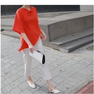 ブラウス レディース 40代 50代 60代 ファッション 女性 上品  黒 無地 ゆったり 体形カバー 半袖 春夏 ミセス|alice-style|13