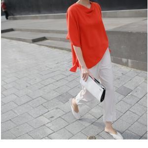 ブラウス レディース 40代 50代 60代 ファッション 女性 上品  黒 無地 ゆったり 体形カバー 半袖 春夏 ミセス|alice-style|14
