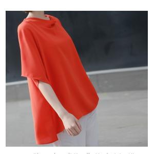 ブラウス レディース 40代 50代 60代 ファッション 女性 上品  黒 無地 ゆったり 体形カバー 半袖 春夏 ミセス|alice-style|18