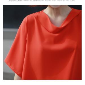 ブラウス レディース 40代 50代 60代 ファッション 女性 上品  黒 無地 ゆったり 体形カバー 半袖 春夏 ミセス|alice-style|19