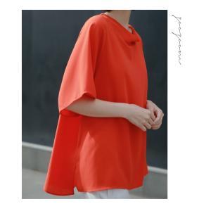 ブラウス レディース 40代 50代 60代 ファッション 女性 上品  黒 無地 ゆったり 体形カバー 半袖 春夏 ミセス|alice-style|20