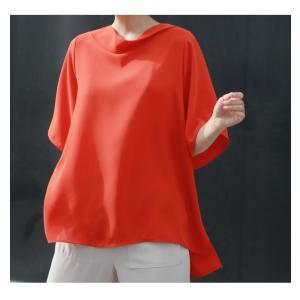 ブラウス レディース 40代 50代 60代 ファッション 女性 上品  黒 無地 ゆったり 体形カバー 半袖 春夏 ミセス|alice-style|05
