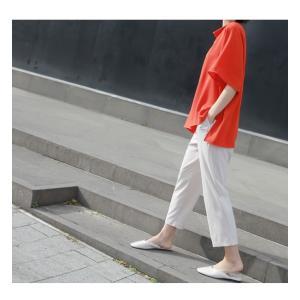 ブラウス レディース 40代 50代 60代 ファッション 女性 上品  黒 無地 ゆったり 体形カバー 半袖 春夏 ミセス|alice-style|06