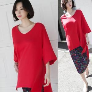 ブラウス レディース 40代 50代 60代 ファッション 女性 上品  黒 白 赤7分袖 無地 トップス 春 ミセス|alice-style