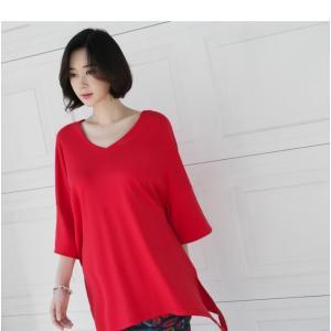 ブラウス レディース 40代 50代 60代 ファッション 女性 上品  黒 白 赤7分袖 無地 トップス 春 ミセス|alice-style|11