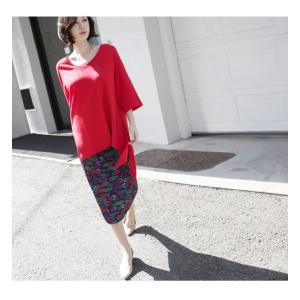ブラウス レディース 40代 50代 60代 ファッション 女性 上品  黒 白 赤7分袖 無地 トップス 春 ミセス|alice-style|07