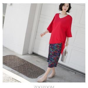 ブラウス レディース 40代 50代 60代 ファッション 女性 上品  黒 白 赤7分袖 無地 トップス 春 ミセス|alice-style|09