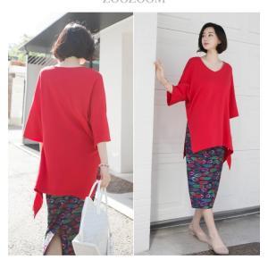 ブラウス レディース 40代 50代 60代 ファッション 女性 上品  黒 白 赤7分袖 無地 トップス 春 ミセス|alice-style|10