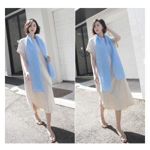 ワンピース レディース 40代 50代 60代 ファッション 女性 上品  茶色 ベージュリネン 半袖 ロング丈 無地 きれいめ 春 ミセス|alice-style|15