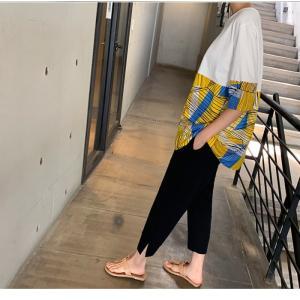 トップス レディース 40代 50代 60代 ファッション 女性 上品 Tシャツ 切り替え 柄 半袖 春夏 ミセス|alice-style|20