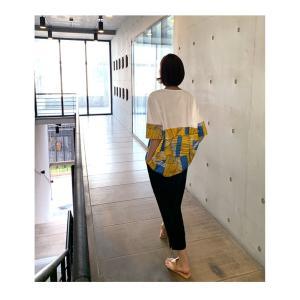 トップス レディース 40代 50代 60代 ファッション 女性 上品 Tシャツ 切り替え 柄 半袖 春夏 ミセス|alice-style|04