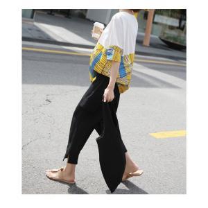 トップス レディース 40代 50代 60代 ファッション 女性 上品 Tシャツ 切り替え 柄 半袖 春夏 ミセス|alice-style|08