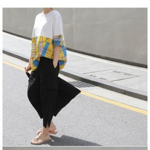 トップス レディース 40代 50代 60代 ファッション 女性 上品 Tシャツ 切り替え 柄 半袖 春夏 ミセス|alice-style|09