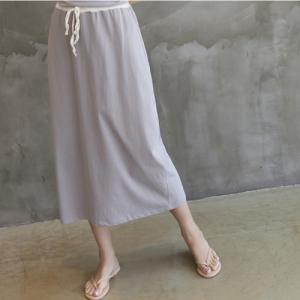 スカート レディース 大人 40代 50代 60代 ファッション 女性 上品 グレー カーキ 緑 カーキ 緑 ロング丈 無地 春夏 ミセス|alice-style