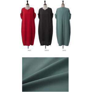 ロングワンピース レディース 40代 50代 60代 ファッション 女性 上品  黒  赤 半袖 無地 膝丈 きれいめ 大人 春 夏 ミセス|alice-style|02