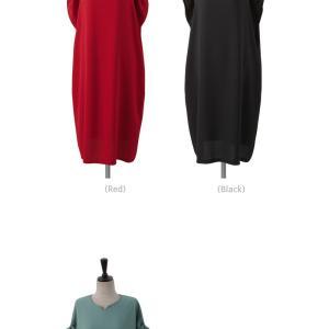 ロングワンピース レディース 40代 50代 60代 ファッション 女性 上品  黒  赤 半袖 無地 膝丈 きれいめ 大人 春 夏 ミセス|alice-style|14