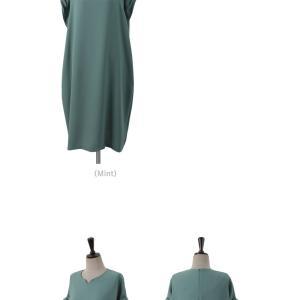 ロングワンピース レディース 40代 50代 60代 ファッション 女性 上品  黒  赤 半袖 無地 膝丈 きれいめ 大人 春 夏 ミセス|alice-style|15