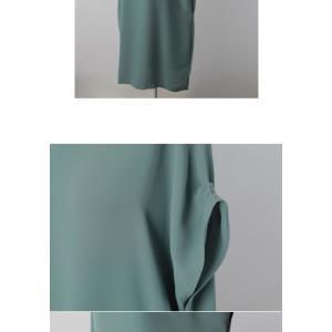 ロングワンピース レディース 40代 50代 60代 ファッション 女性 上品  黒  赤 半袖 無地 膝丈 きれいめ 大人 春 夏 ミセス|alice-style|19