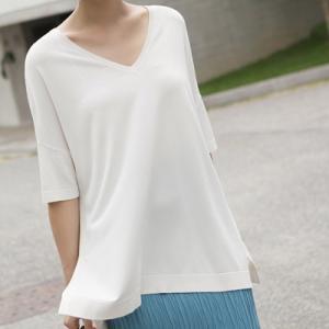 Tシャツ レディース 40代 50代 60代 ファッション 女性 上品  黒  ベージュ トップス 半袖 無地 春夏 ミセス|alice-style