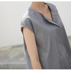 ワンピース レディース 40代 50代 60代 ファッション 女性 上品  グレー  紺 青 半袖 無地 ロング丈 きれいめ 春夏 ミセス alice-style 11