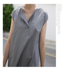 ワンピース レディース 40代 50代 60代 ファッション 女性 上品  グレー  紺 青 半袖 無地 ロング丈 きれいめ 春夏 ミセス alice-style 17