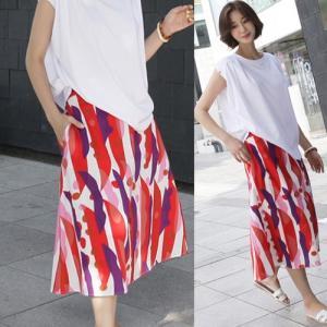 スカート レディース 40代 50代 60代 ファッション 女性 上品 膝丈 柄 春夏 ミセス|alice-style