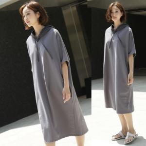 ワンピース レディース 40代 50代 60代 ファッション 女性 上品  グレー 半袖 膝丈 きれいめ 春夏 ミセス alice-style