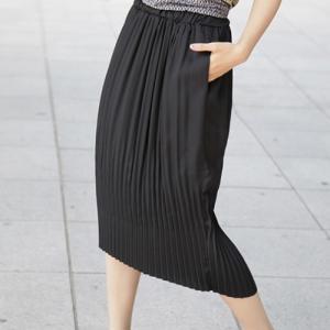 スカート レディース 40代 50代 60代 ファッション 女性 上品  黒 膝丈 無地 きれいめ 通勤 春夏 ミセス|alice-style