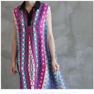 ワンピース レディース 40代 50代 60代 ファッション 女性 上品 リネン 膝丈 柄 ノースリーブ 春夏 ミセス|alice-style|14